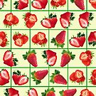 Strawberries pattern by Gaspar Avila