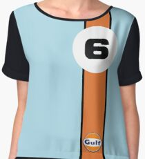 Gulf Racing  Chiffon Top