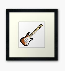 8 Bit Guitar Framed Print