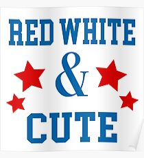Red White & Cute Poster