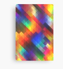 Abstract Colorful Decorative Squares Pattern Canvas Print