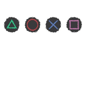 Horizontal Sketched Game Pad Buttons by sherman101