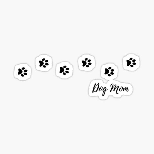 Dog Mom Paw Prints Sticker