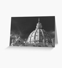 Dome of Saint Peter Basilica in Vatican City Rome Greeting Card