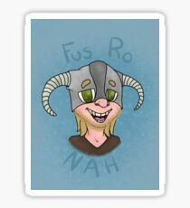 Skyrim Fus Ro Nah - Nord Version Sticker