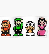 Super Mario Bros. 2 Characters Poster