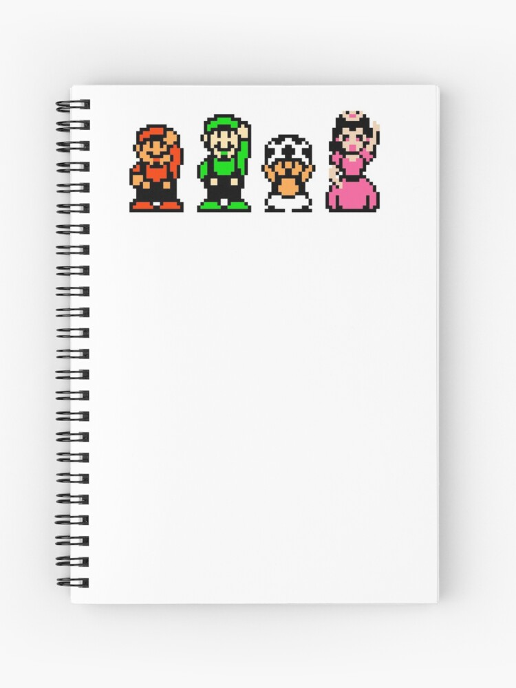 Super Mario Bros  2 Characters | Spiral Notebook