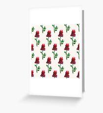 Watercolor flowers (beige) Greeting Card
