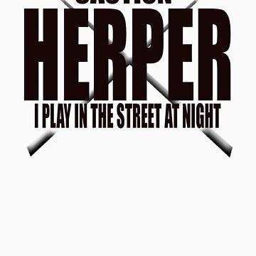 CAUTION HERPER by snakemastermyke