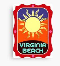 Virginia beach, sunny travel sticker Canvas Print