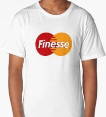 Finesse Mastercard  | White Shirt Long T-Shirt