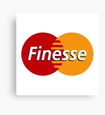 Finesse Mastercard  | White Shirt Canvas Print