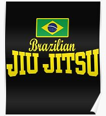 Flag Text BJJ - MMA BJJ Apparel Poster
