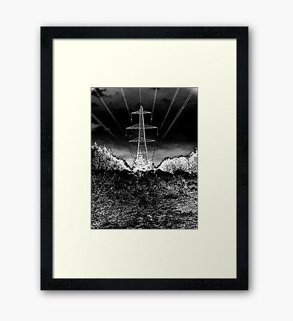 """Elec Tree City"" Framed Print"