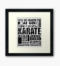 Karate A to Z MMA BJJ Apparel Framed Print