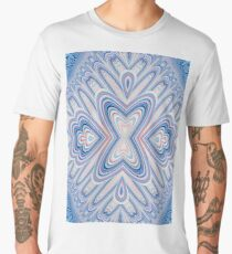 Pink and Blue Flowers Kaleidoscope  Men's Premium T-Shirt