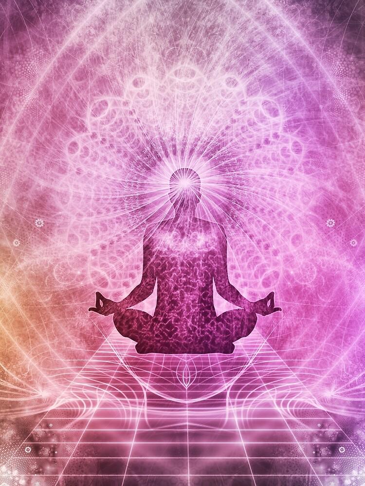 Geistige Yoga-Meditation Zen Colorful von livianasgifts