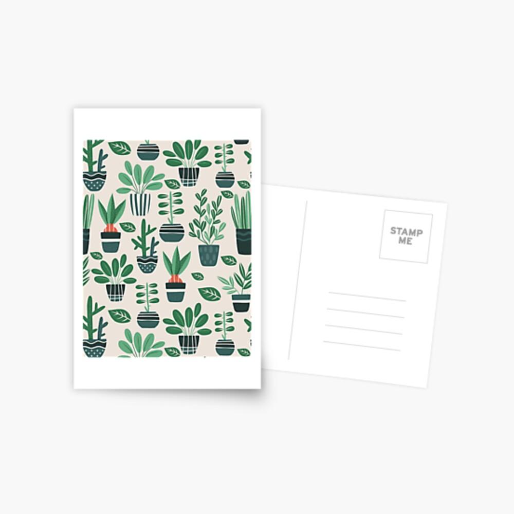 Potted Plants Postcard