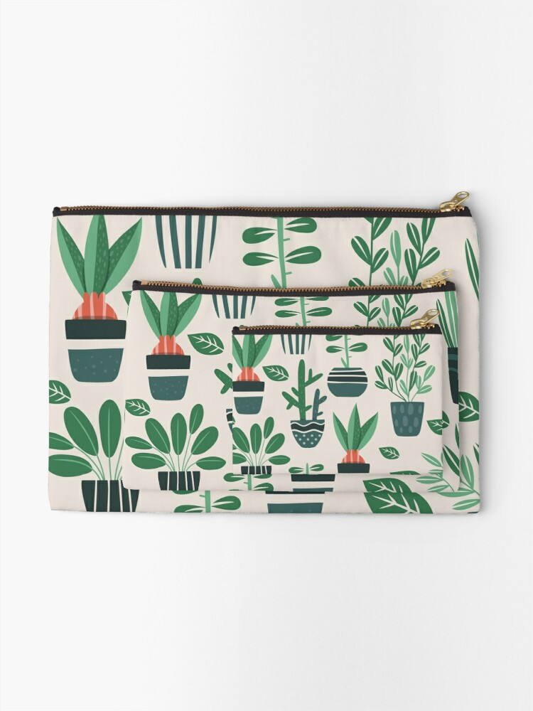 Alternate view of Potted Plants Zipper Pouch
