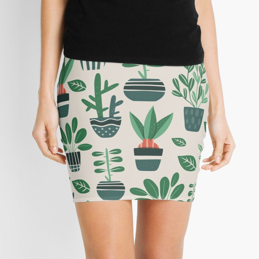 Potted Plants Mini Skirt