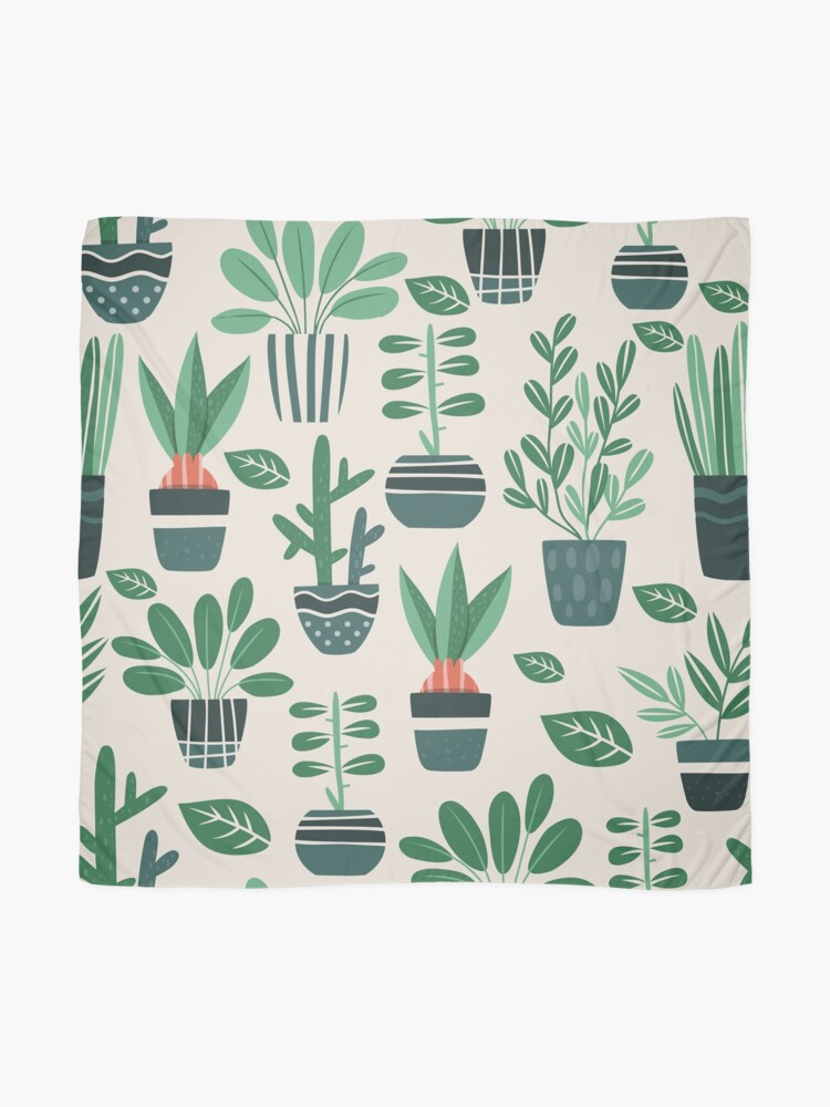Alternate view of Potted Plants Scarf