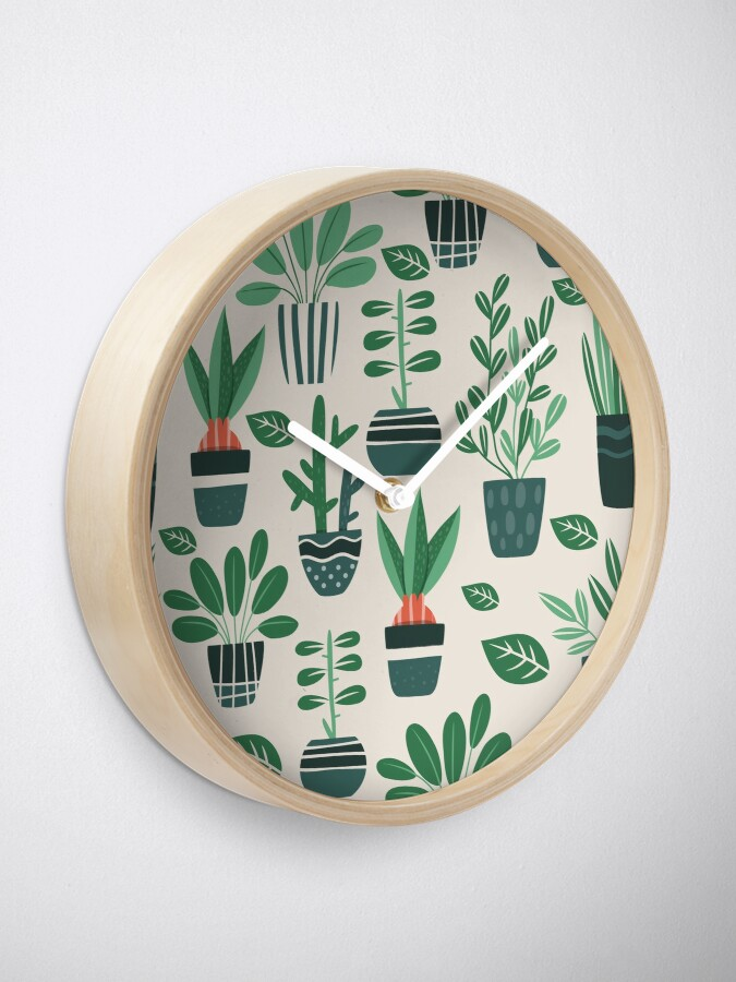 Alternate view of Potted Plants Clock