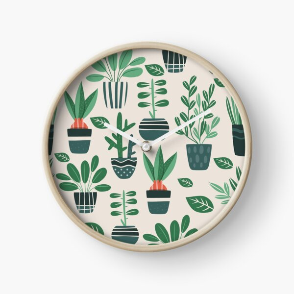 Potted Plants Clock