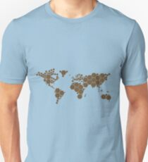Abstract Map of the World T-Shirt