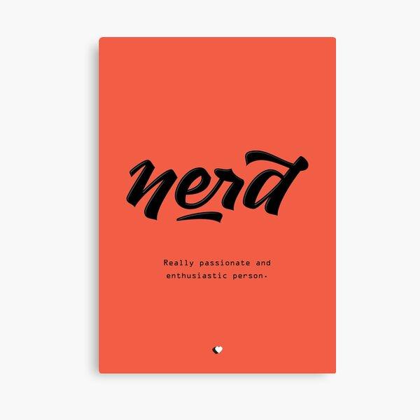 Nerd Lettering Canvas Print