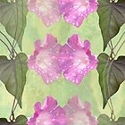Repeated Morning Glories by Rosalie Scanlon