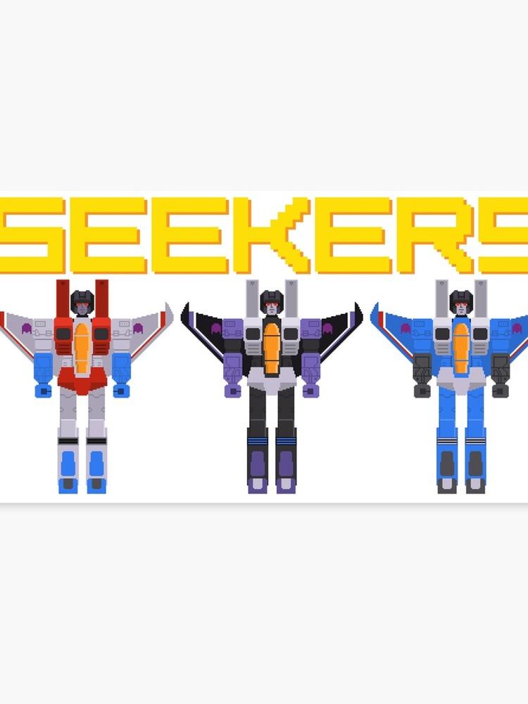 Transformers Seekers Pixel Art Canvas Print