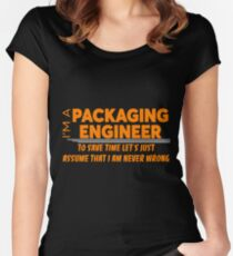 PACKAGING ENGINEER Women's Fitted Scoop T-Shirt
