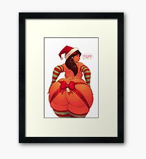 THICK BBW CHISTMAS MERCHANDISE Framed Print