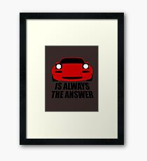 ALWAYS THE ANSWER Framed Print