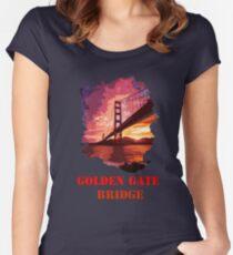 Golden Gate Bridge - San Francisco Women's Fitted Scoop T-Shirt