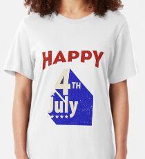 Happy July 4th tshirt Slim Fit T-Shirt