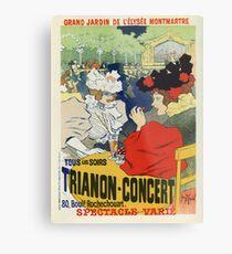 Vintage Paris Garten Trianon Montmartre Konzertanzeige Metallbild