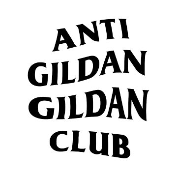 Anti Gildan Gildan Club | White Classic T-shirt | Back Print by Street-King