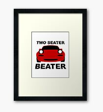 TWO SEATER BEATER Framed Print