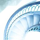 Staircase in Blue ... Potsdam by Angelika  Vogel