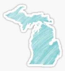 Blue Painted Michigan  Sticker