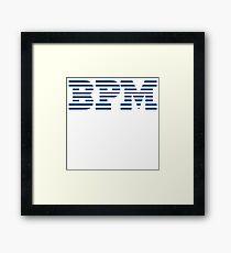BPM Beats Per Minute DJ Parody Framed Print