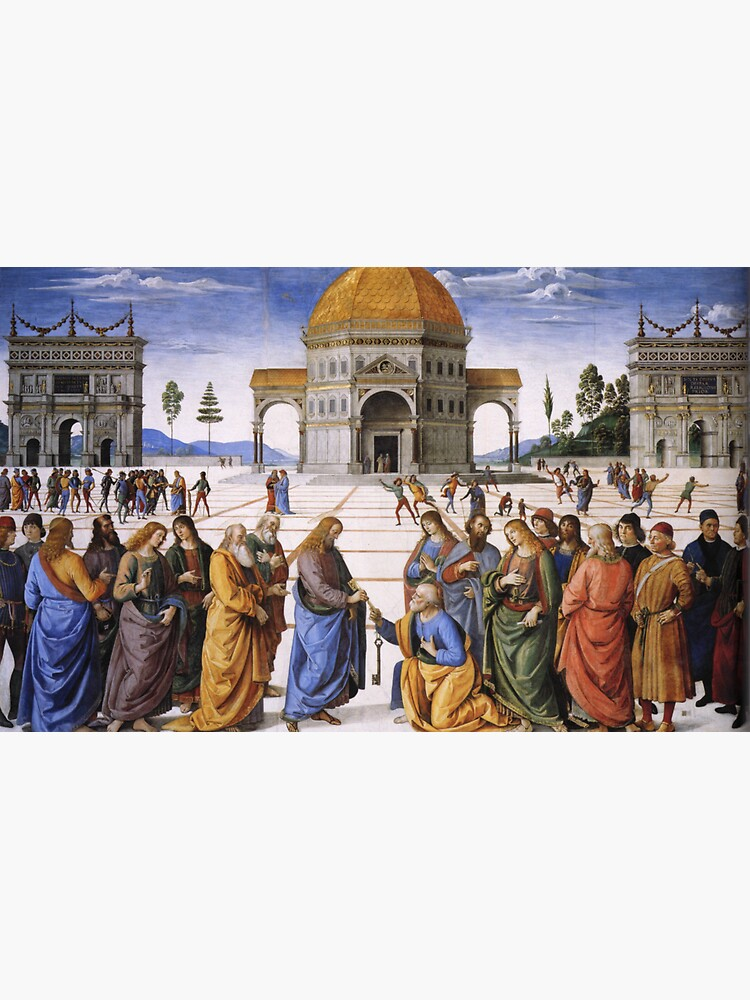 The Delivery of the Keys Painting by Perugino Sistine Chapel by podartist