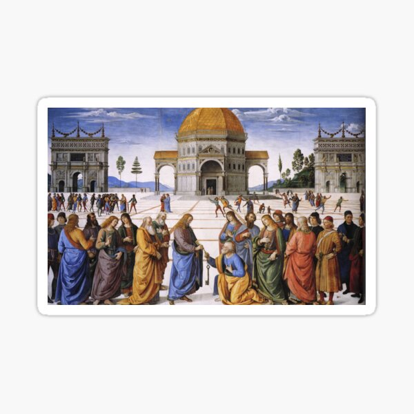 The Delivery of the Keys Painting by Perugino Sistine Chapel Sticker