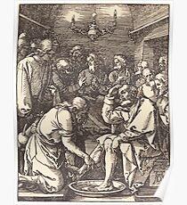 Albrecht Dürer or Durer Christ Washing the Feet of the Disciples Poster