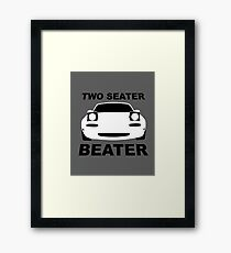 TWO SEATER BEATER (WHITE) Framed Print