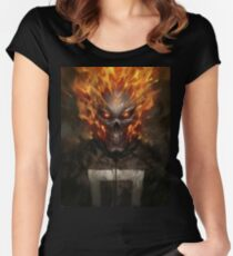 Ghost Rider  Women's Fitted Scoop T-Shirt