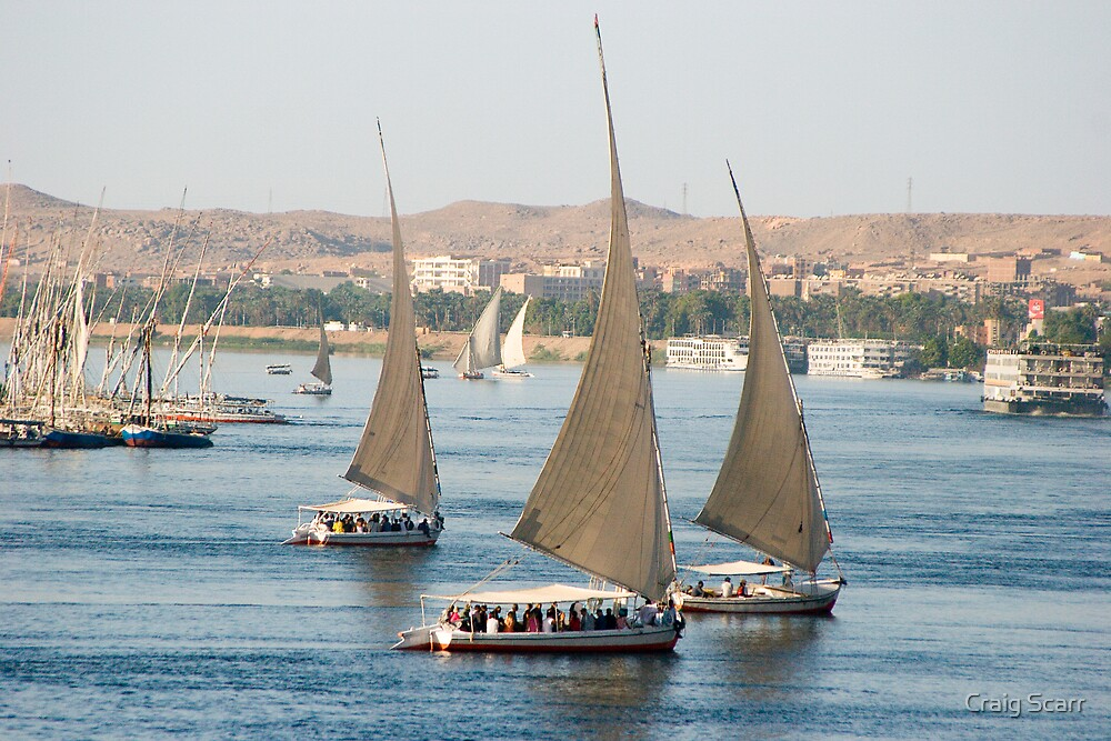 River Nile Felucca's, Egypt by Craig Scarr
