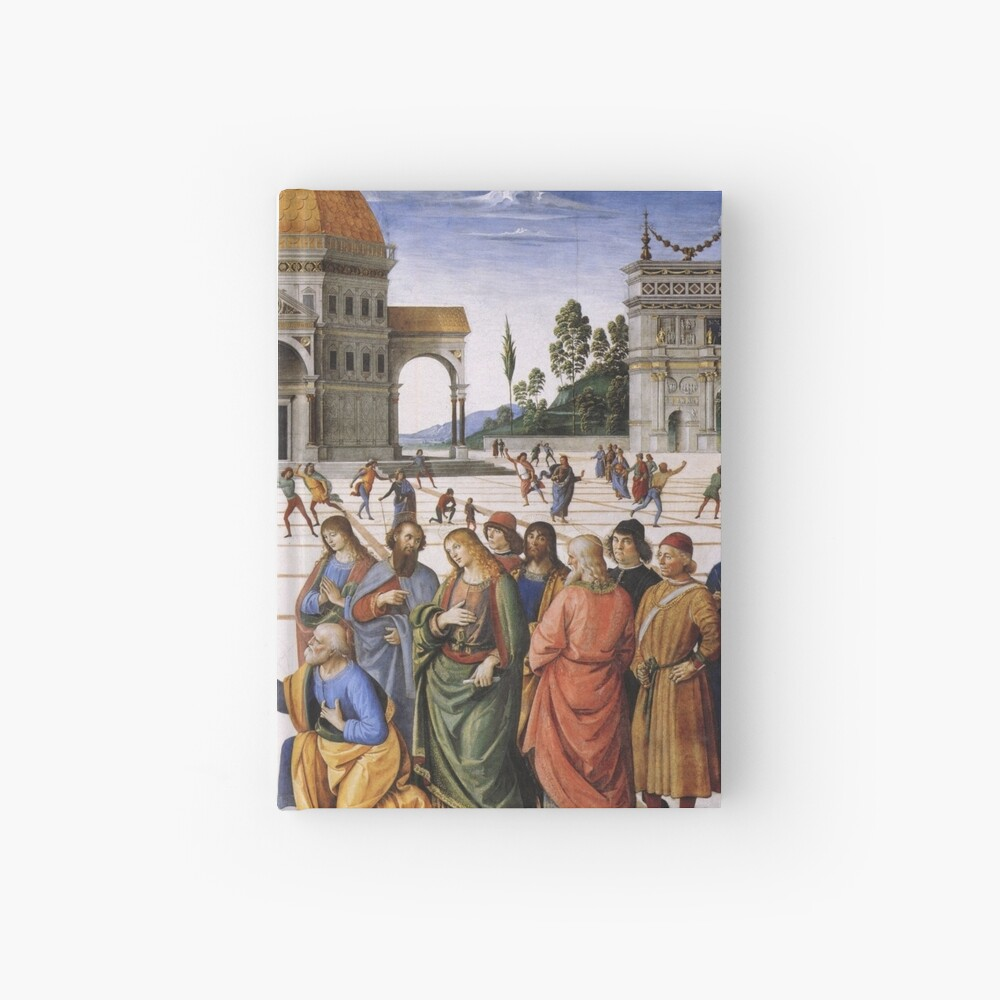 The Delivery of the Keys Painting by Perugino Sistine Chapel Hardcover Journal