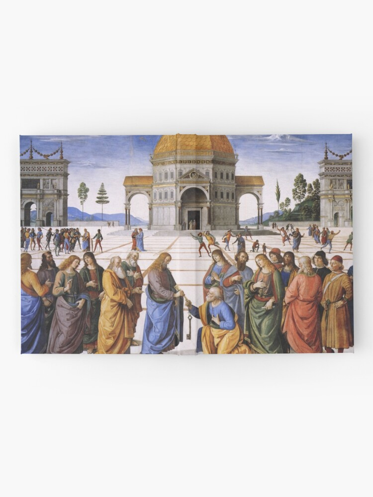 Alternate view of The Delivery of the Keys Painting by Perugino Sistine Chapel Hardcover Journal